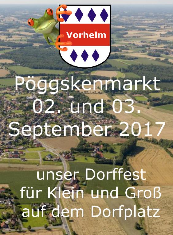 02. und 03. September 2017 Pöggskenmarkt in Vorhelm auf dem Dorfplatz