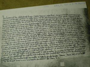Das älteste Schriftstück im Pfarrarchiv - 1392