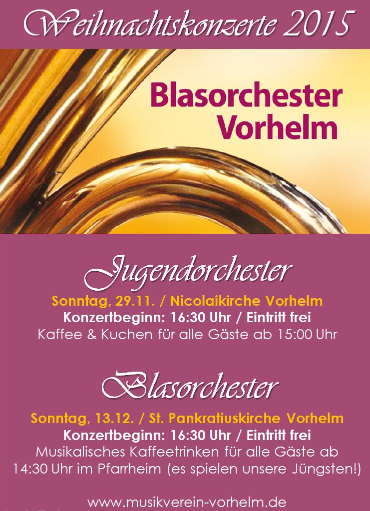 Weihnachtskonzerte Musikverein Vorhelm