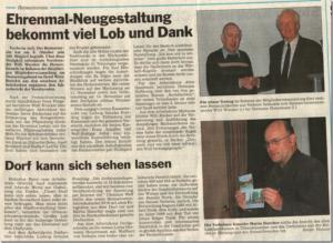 29.10.2015 /Heimatverein Jahreshauptversammlung Bericht GLOCKE