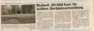 Ortsausschuss 20.000 Euro für Dorfplatzerweiterung / 24.11.2015