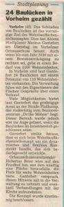 24 Baulücken in Vorhelm gezählt / 24.11.2015