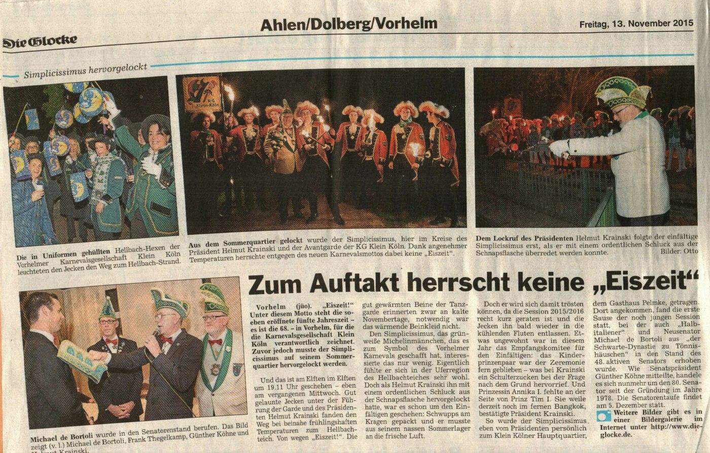 Karnevaleröffnung / 24.11.2015