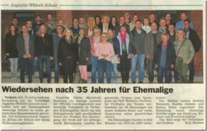 Wiedersehen nach 35 Jahren Augustin-Wibbelt-Schule / 01.11.2015 / Glocke