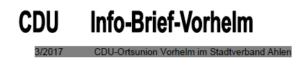 Infobrief CDU 3/2017