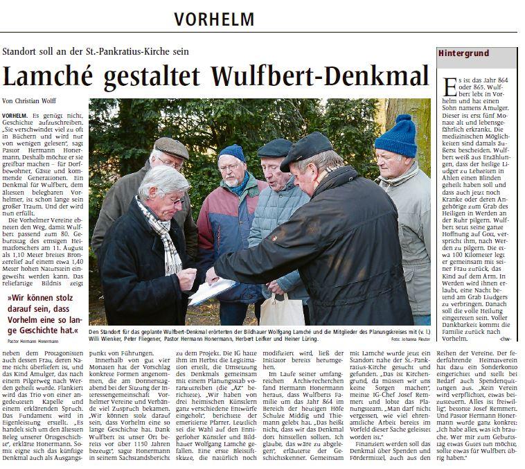 Lamche gestaltet Wulfbert-Denkmal