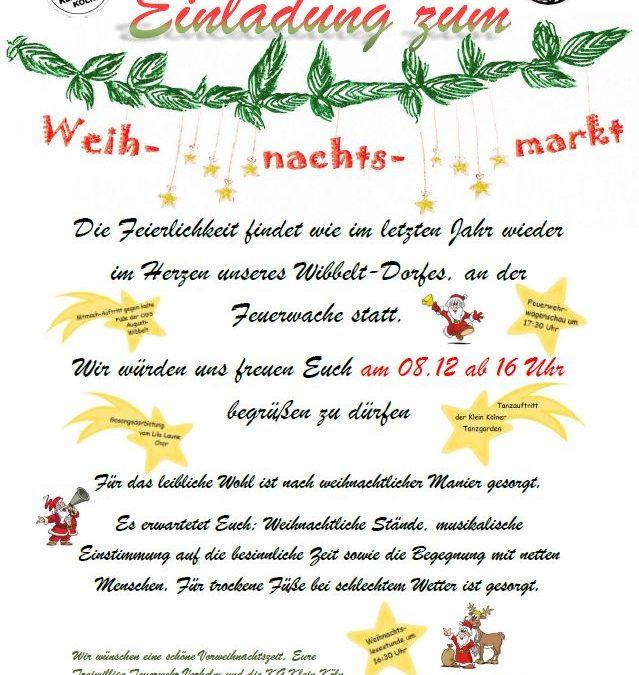 Weihnachtsmarkt 2018 im Wibbeltdorf 08.12.2018