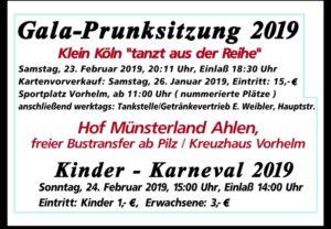 """Gala-Prunksitzung und Kinderkarneval 2019 / Klein Köln """"tanzt aus der Reihe"""""""