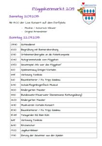Pöggskenmarkt Programm 2019