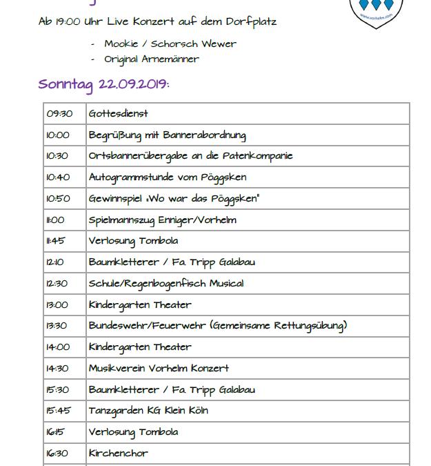 Bühnenprogramm auf dem Pöggskenmarkt 2019